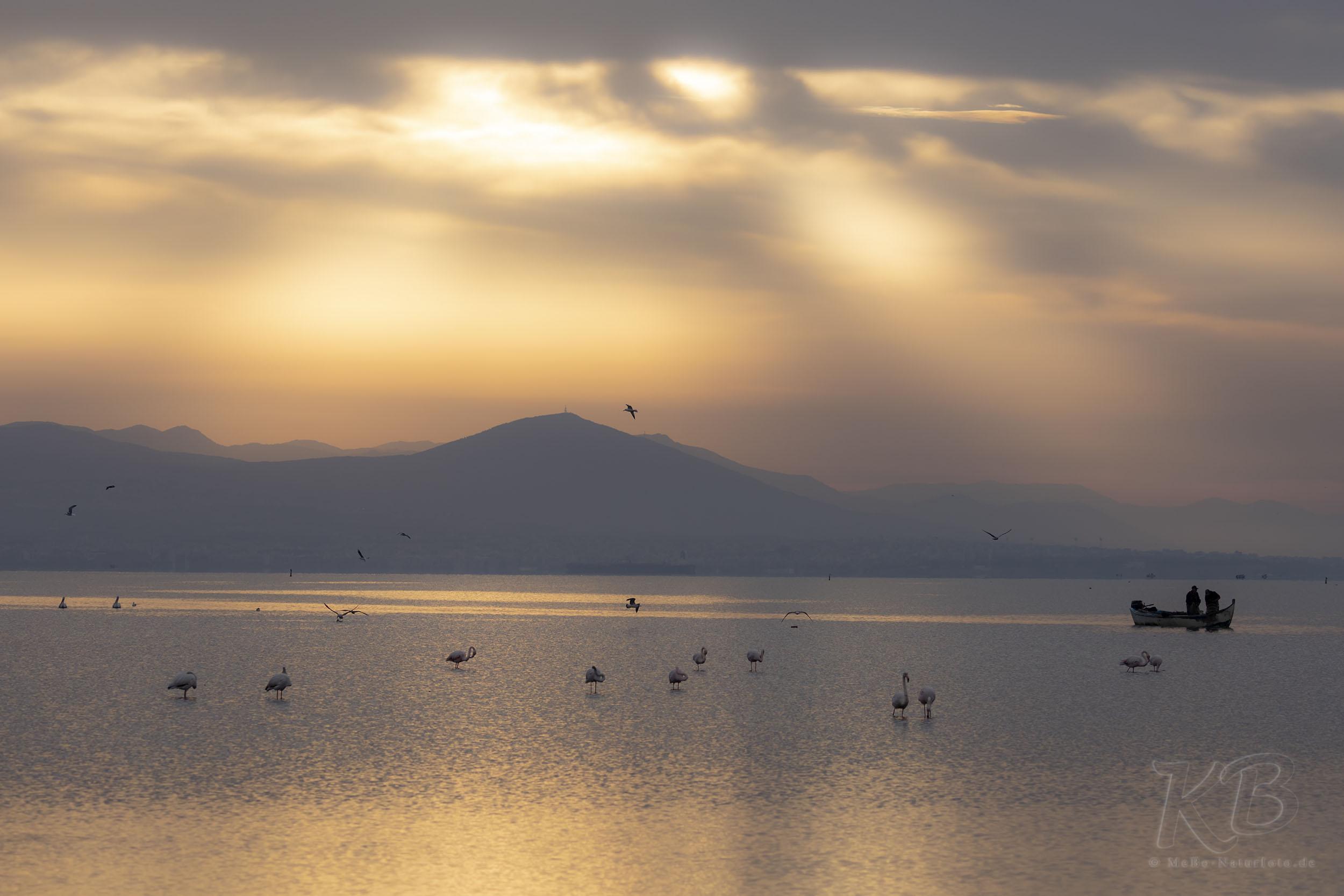 Sonnenaufgang in der Bucht von Thessaloniki